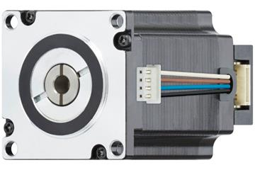 drylin® E lead screw stepper motor with strands and encoder, NEMA 23