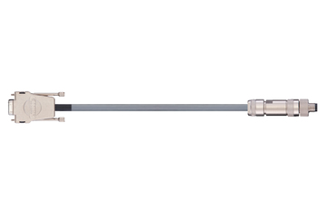 readycable® encoder cable acc. to Festo standard KDI-MC-M8-SUB-9-xxx, base cable PUR 10 x d