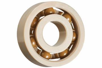 xiros® radial ball bearings, xirodur A500, balls made of PAI, cage made of PEEK, mm
