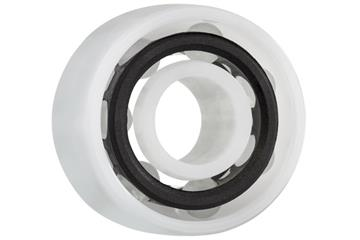 xiros® radial deep groove ball bearing, double row, xirodur B180, glass balls, cage made of PA, mm