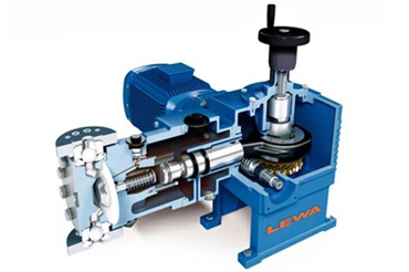 LEWA dosing pump with iglidur X plain bearings