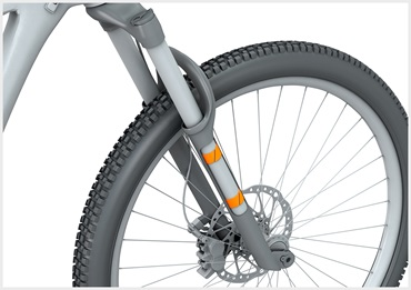 iglidur plain bearings in suspension fork